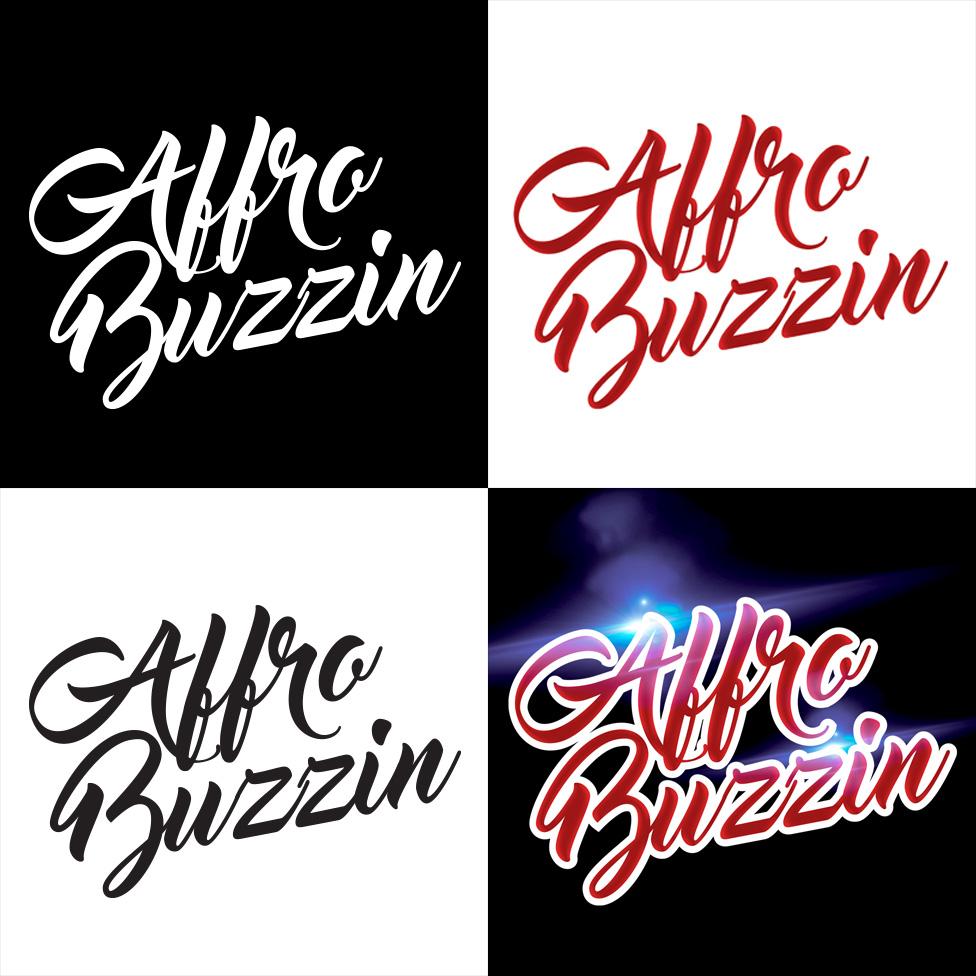 Affro buzzin logo designs
