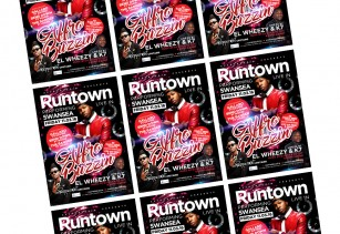 runtown flyer design swansea nightclub