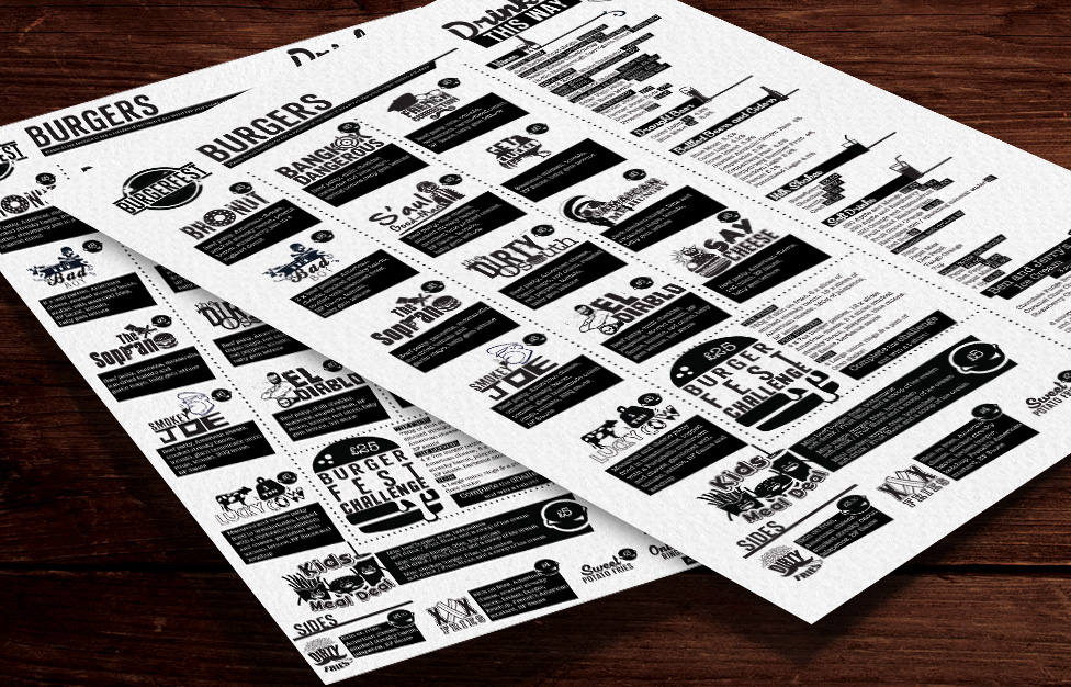 menu design, website design, marketing collateral, brand refresh, t-shirt design, poster design