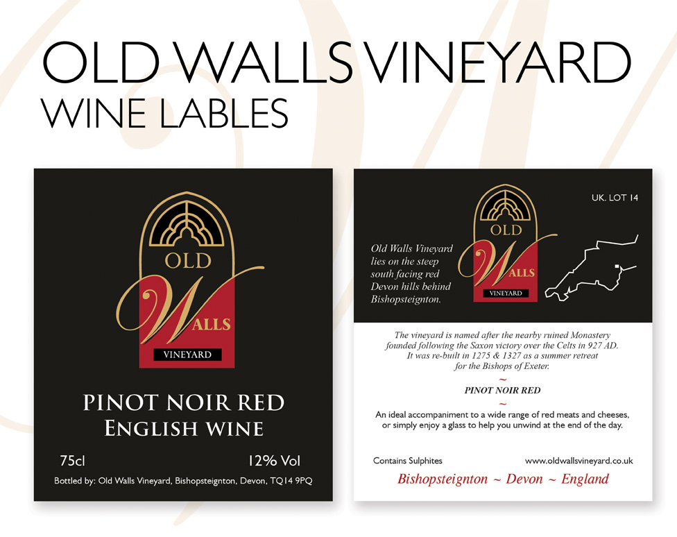 Wine label printing for Old Walls vineyard